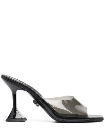 Philipp Plein Transparent mid-heeled Sandals - Farfetch