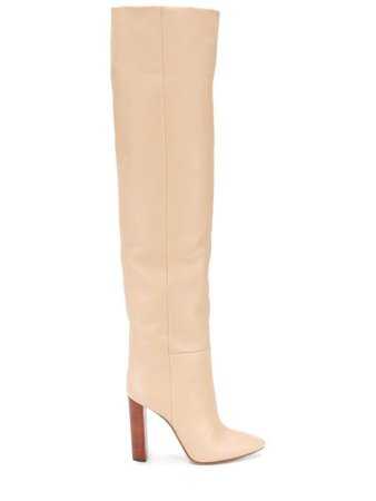 Saint Laurent thigh-high Pointed Toe Boots - Farfetch