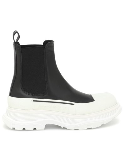 Tread Leather Ankle Boots | Alexander McQueen - Mytheresa