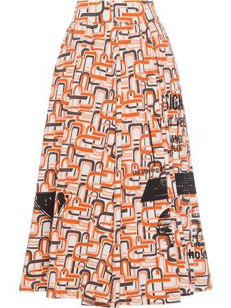 Prada Geometric Pattern Midi Full Skirt - Farfetch