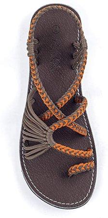 Plaka Flat Sandals for Women Palm Leaf