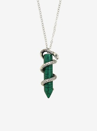 Harry Potter Slytherin Crystal Necklace