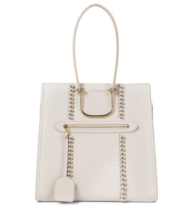 The Tall Story Knot Leather Tote   Alexander McQueen - Mytheresa