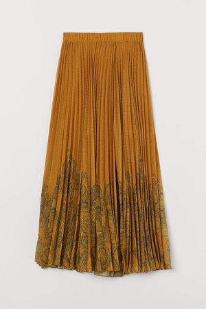 Wrap-front Skirt - Yellow