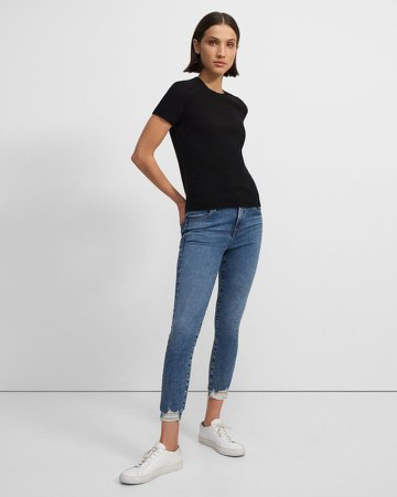 Alana High-Rise Crop Skinny Jean in Stretch Denim