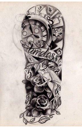 time half sleeve tattoo