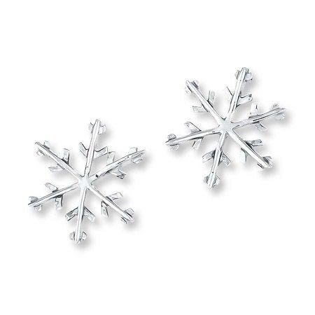 Jared - Snowflake Earrings Sterling Silver
