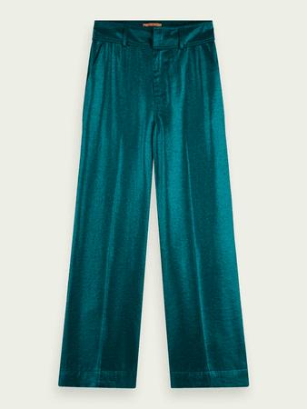 High waist wide leg metallic pants | Trousers & chinos | Scotch & Soda