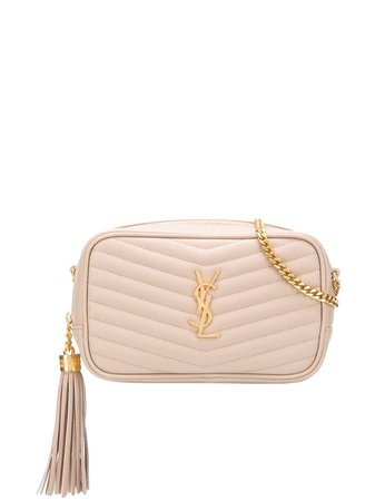 Saint Laurent Quilted Logo Shoulder Bag - Farfetch