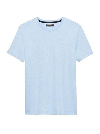 Luxury-Touch Crew-Neck T-Shirt | Banana Republic