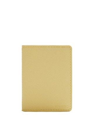 MANGO Saffiano-effect cardholder