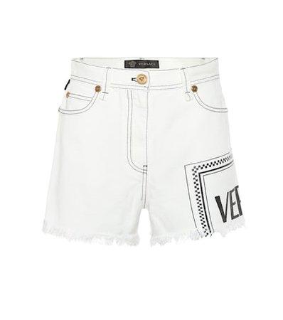 Vintage Logo denim shorts