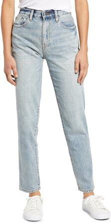Presley High Waist Distressed Straight Leg Jeans