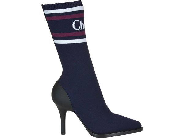 Chloé Logo Sock Boots