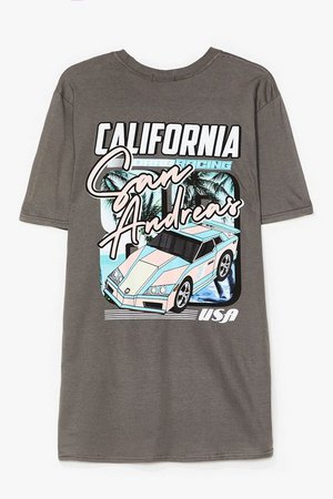 San Andreas Oversized Graphic Tee   Nasty Gal