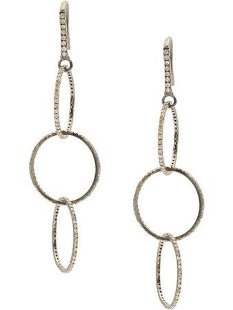 Jemma Sands Broadway Diamond Grande Earrings | Farfetch.com