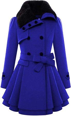 Amazon.com: Chigant Women Fashion Winter Coat with Faux Fur Neck Warm Casual Plus Size Outdoor Jacket Parka: Clothing