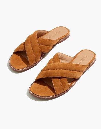 The Skyler Slide Sandal in Suede