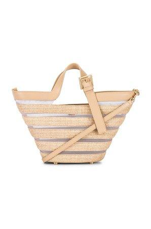 Cult Gaia Laszlo Mini Crossbody Bag in Natural Tan | REVOLVE
