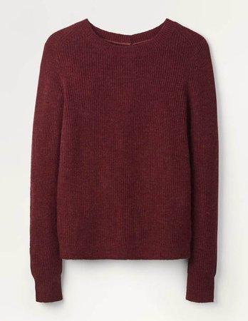 Rosslyn Fluffy Sweater - Maroon