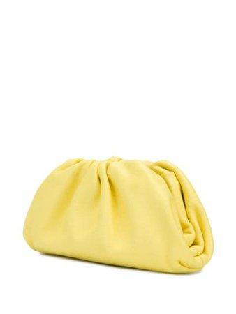 Bottega Veneta mini The Pouch clutch yellow 577816VCP40 - Farfetch