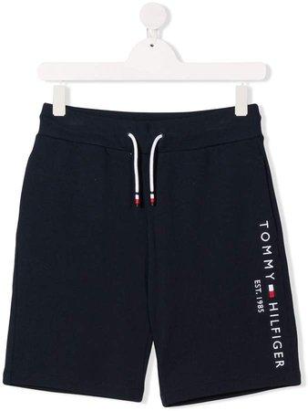 Junior TEEN embroidered logo cotton shorts