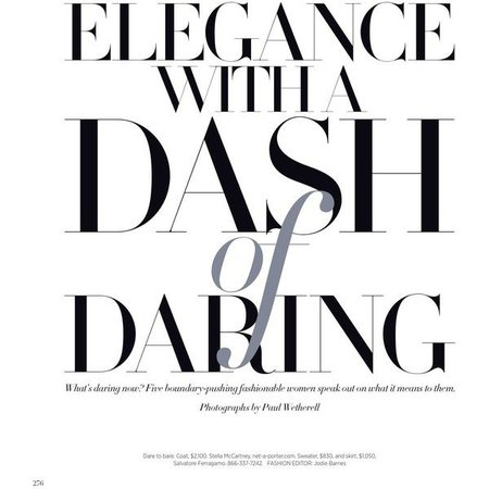 "Text Clipping - ""Elegance with A Dash of Daring"""