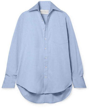 Matthew Adams Dolan - Oversized Cotton-poplin Shirt - Light blue