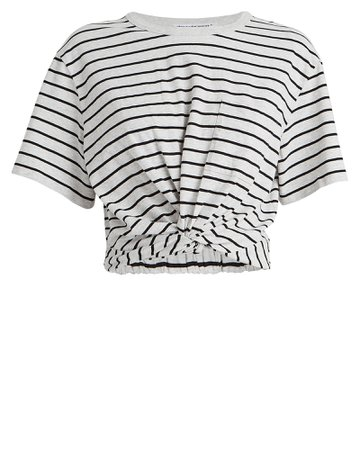 alexanderwang.t | Striped Jersey Twist T-Shirt | INTERMIX®