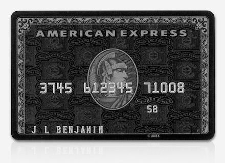 Black Card American Express Card