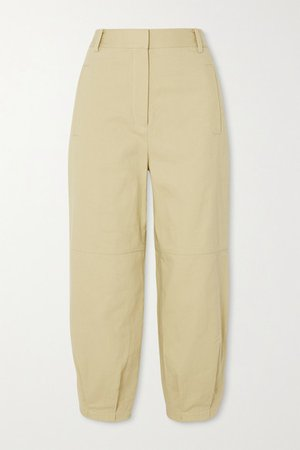 Cotton-twill Tapered Pants - Yellow