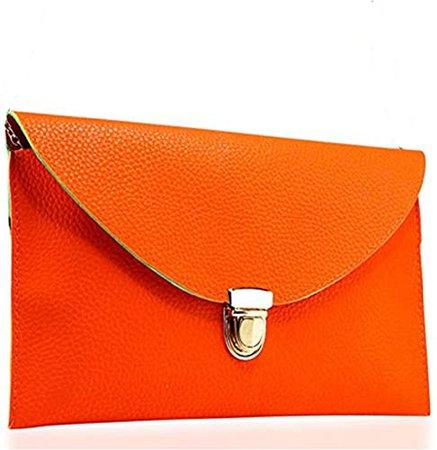 Amaze Fashion Women Handbag Shoulder Bags Envelope Clutch Crossbody Satchel Purse Tote Leather Lady Bag (Brown): Handbags: Amazon.com