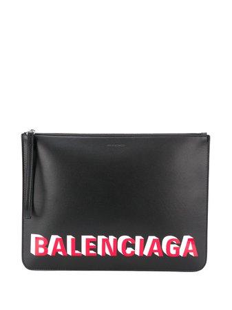 Balenciaga Logo Print Pouch - Farfetch