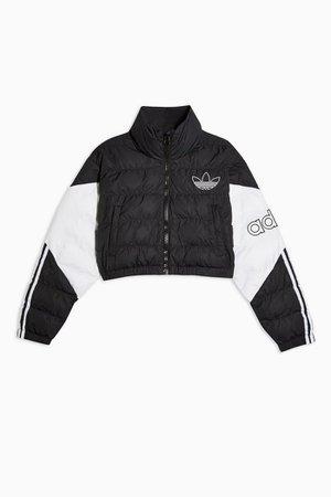Black Crop Puffer Jacket by adidas | Topshop