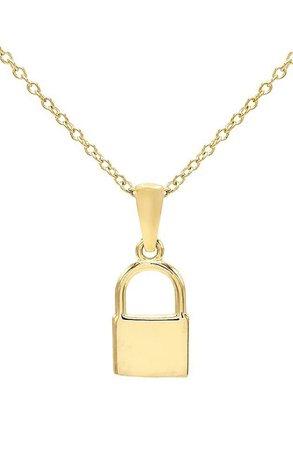 Adina's Jewels Mini Lock Pendant Necklace | Nordstrom