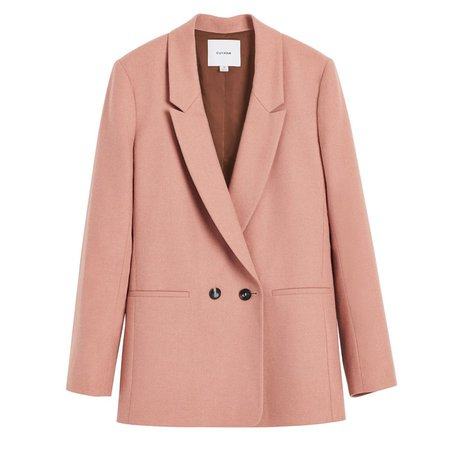 Wool Double-Breasted Blazer   Cuyana
