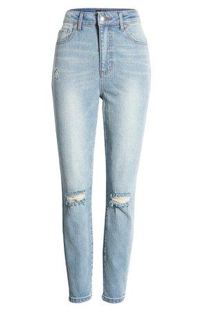 Prosperity Denim Ripped High Waist Mom Jeans (Light Wash) | Nordstrom