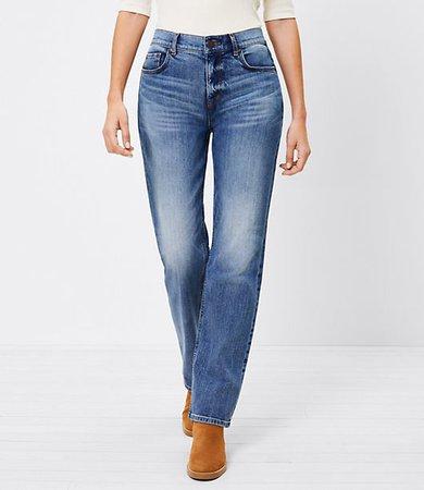 The Petite Curvy Fresh Cut High Waist Straight Crop Jean in Authentic Dark Indigo Wash