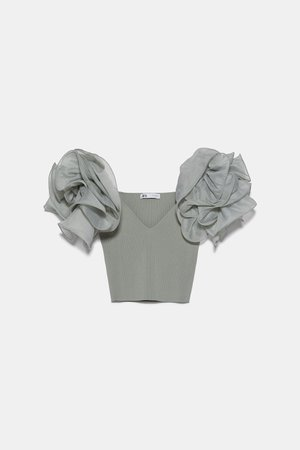 ORGANZA CROP TOP | ZARA United States