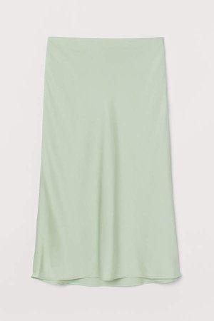 Satin Skirt - Green