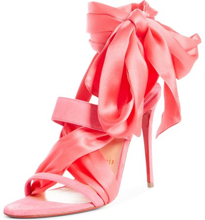 Christian Louboutin Foulard Cheville Tie Up Sandal (Women) | Nordstrom