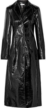 Beaufille - Magna Cotton-blend Vinyl Trench Coat - Black