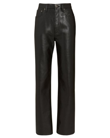 AGOLDE Fitted 90s Leather Pants | INTERMIX®