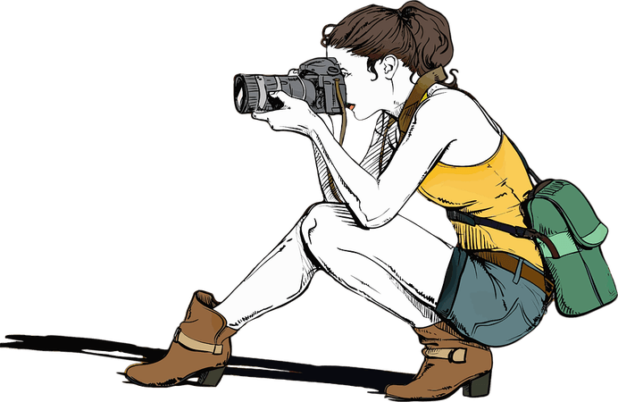 Camera Female Girl - Free vector graphic on Pixabay