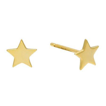 Gold Star Stud Earring   Adina's Jewels