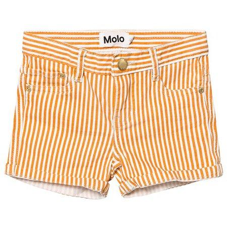 Molo Orange Stripe Audrey Shorts | AlexandAlexa