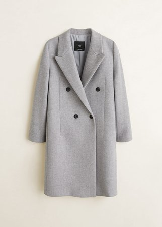 Structured wool coat - Women | Mango USA