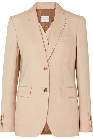 Burberry | Wool, silk, mohair and linen-blend blazer | NET-A-PORTER.COM
