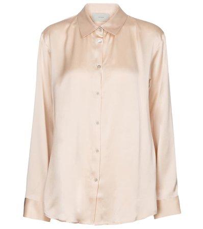Asceno - London silk satin pajama shirt   Mytheresa