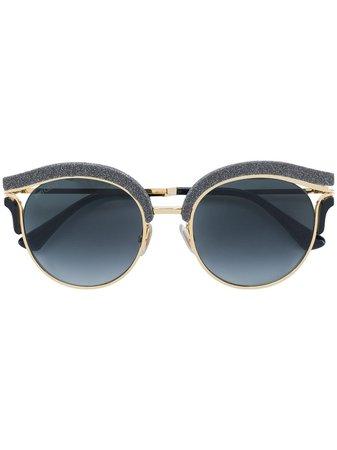 Jimmy Choo Eyewear Lash Sunglasses LASHS Black   Farfetch